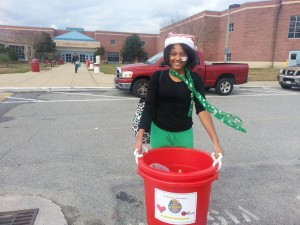 Kemani Montgomery, an eighth-grader at Landstown Middle, began a food drive to benefit local families in need.