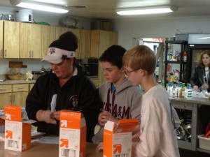 More than two dozen volunteers from Landstown Middle made dinner for guests at the Judeo-Christian Outreach Center.
