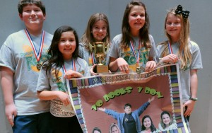 Princess Anne Elementary's Ten Books, One Boy battle team won the championship.