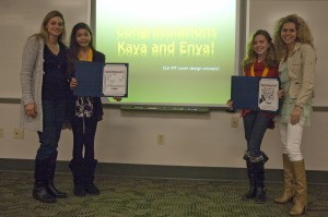 Virginia Beach Middle School students Kaya Cortado(left) and Enya Pfeiffer (right) won the IPT cover contest.