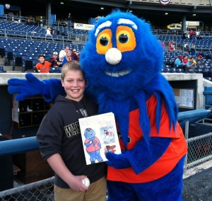 JT Matney, from Kempsville Middle School, won the Norfolk Tides program design contest.