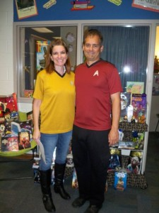 Amy and Al Doss came in tow as a Star Trek couple.