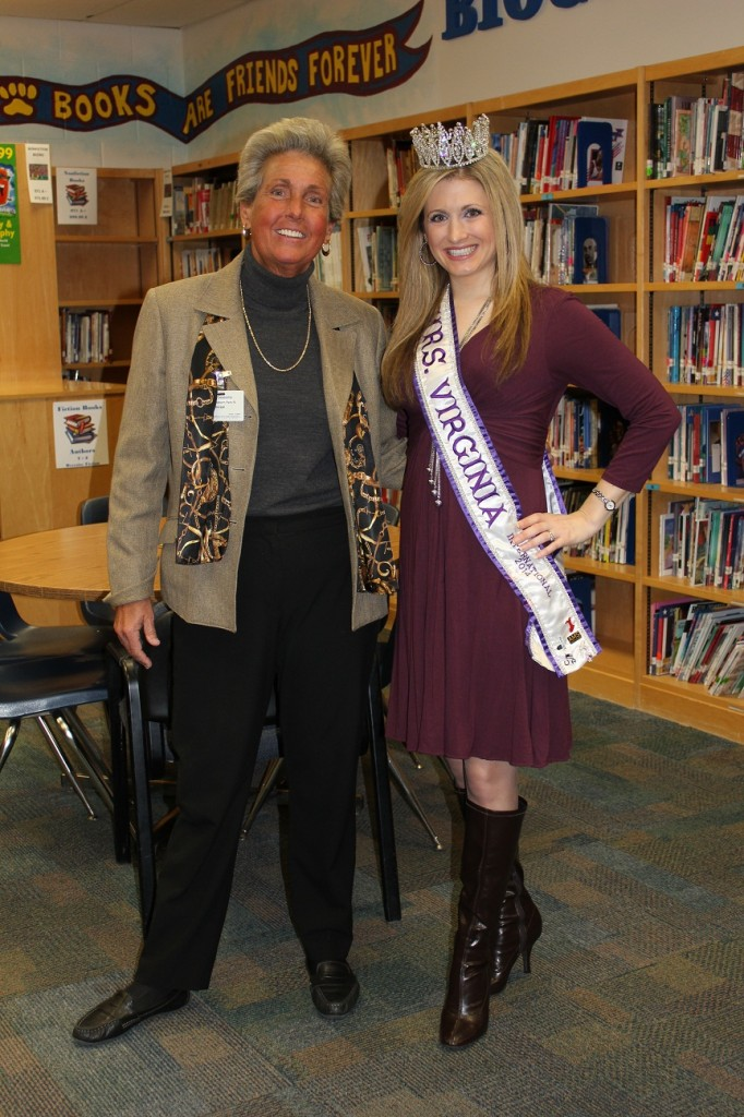 Linkhorn Park principal Barbara Sessoms pictured with Ms. Virginia International.