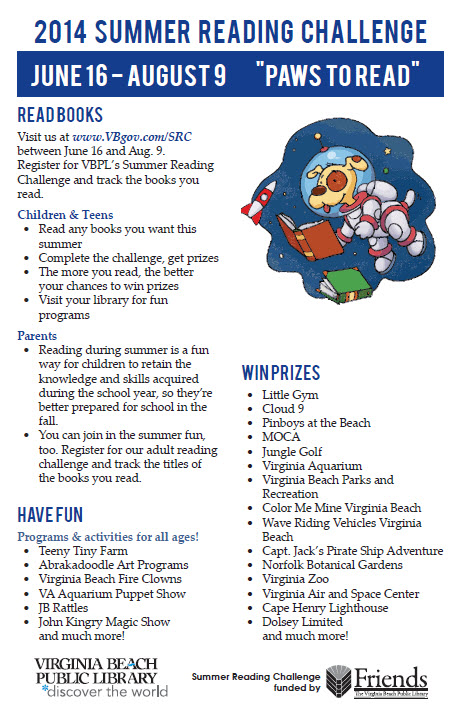 Virginia Beach Public Library Summer Reading Program