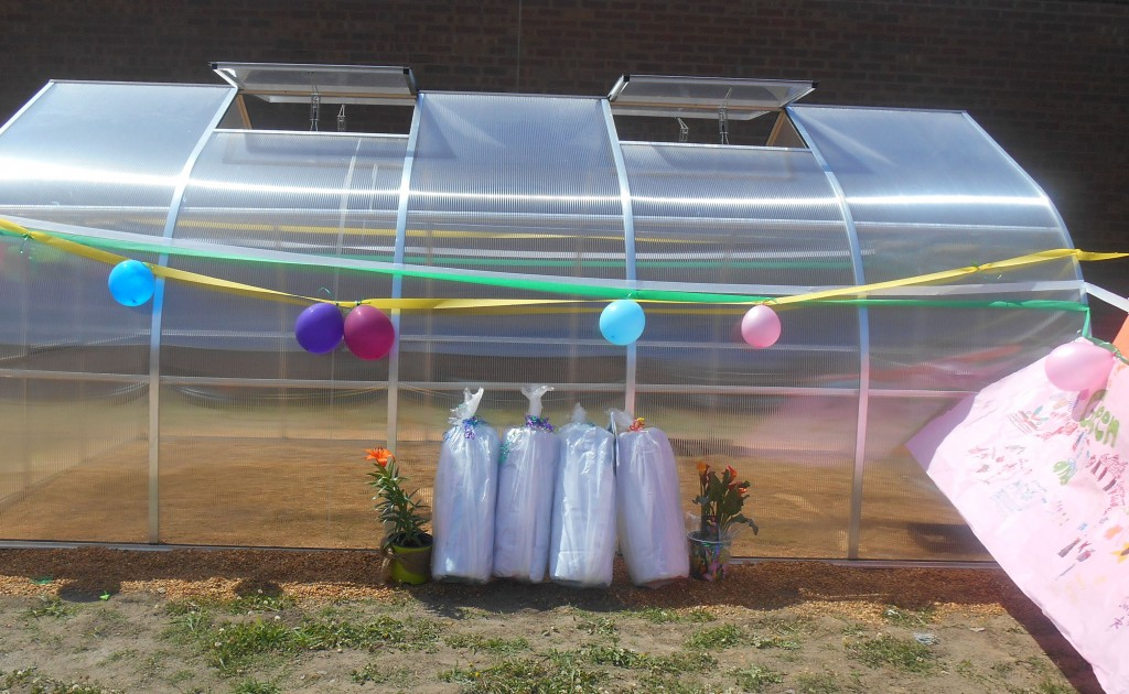 There was a dedication ceremony for the new greenhouse at Cox High School.