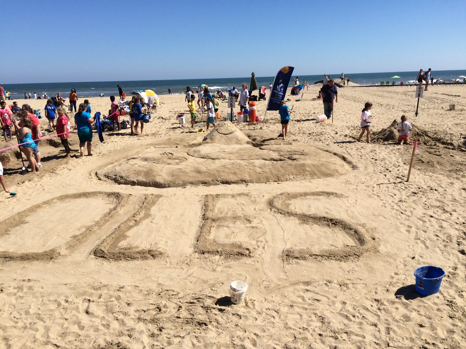 Ocean Lakes Elementary School Sand Sculpting team won third place at this weekend's International Sand Sculpting championship.