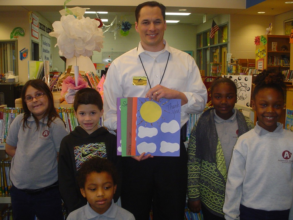 The second-grade students at Seatack Elementary had WAVY meteorologist Jeremy Wheeler visit them. He demonstrated how different weather tools and information about the weather impact our daily lives. Pictured with Wheeler are (left) Yetzen Morales, and Trinity Cline, Austin Davis (front), and Mikayla Johnson and Tiamarie Hughes (far right).