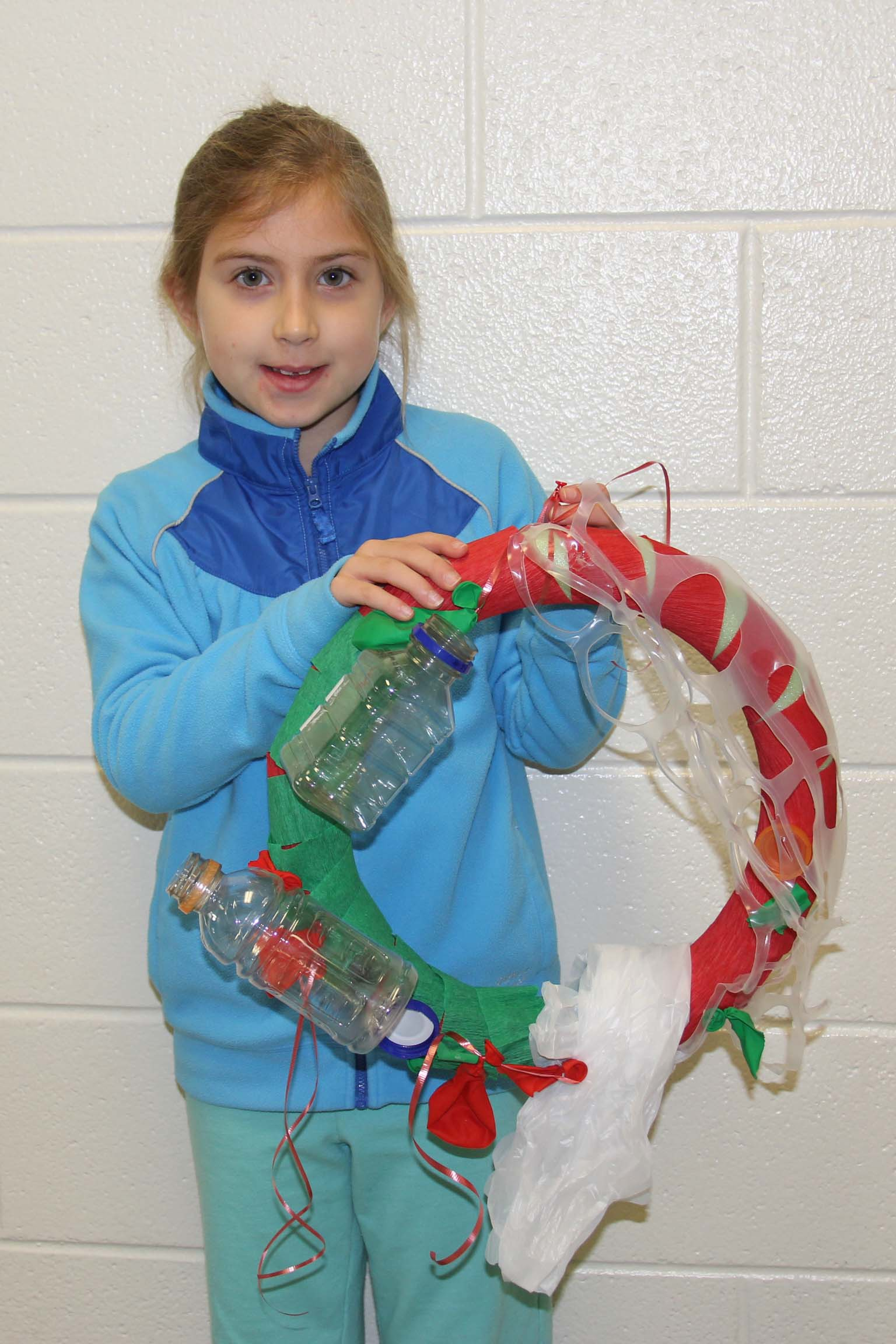 "Caycee Cooper's wreath, A Clean Christmas on the Beach, won a first place award for making the ""strongest statement"" regarding sustainability."