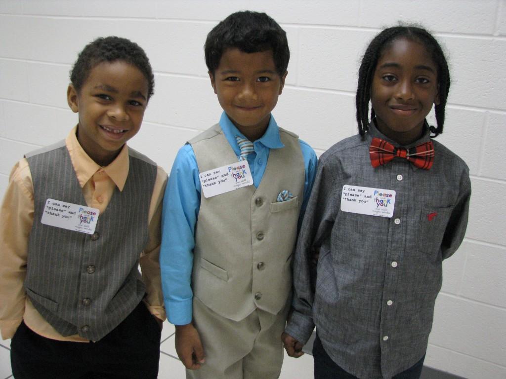 Jaeden Brown, Ashton Harrell and Jhileel Jones attended the Distinguished Young Gentlemen's Club meeting.