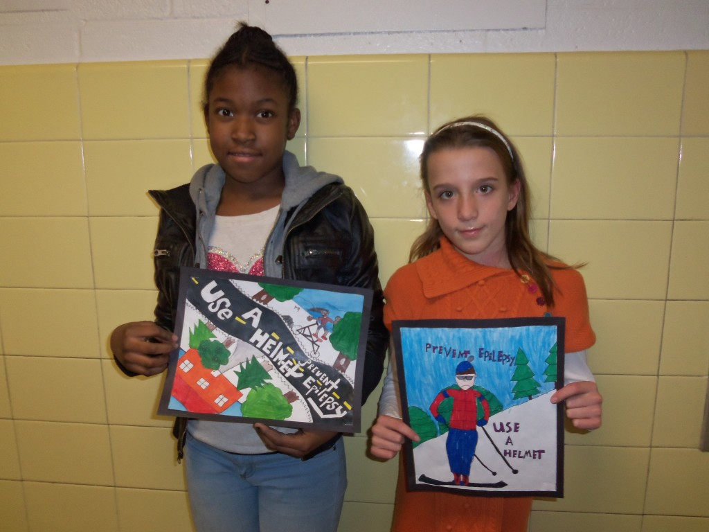 Zaniah Milford and Jessica Frampton showcase their winning entries.