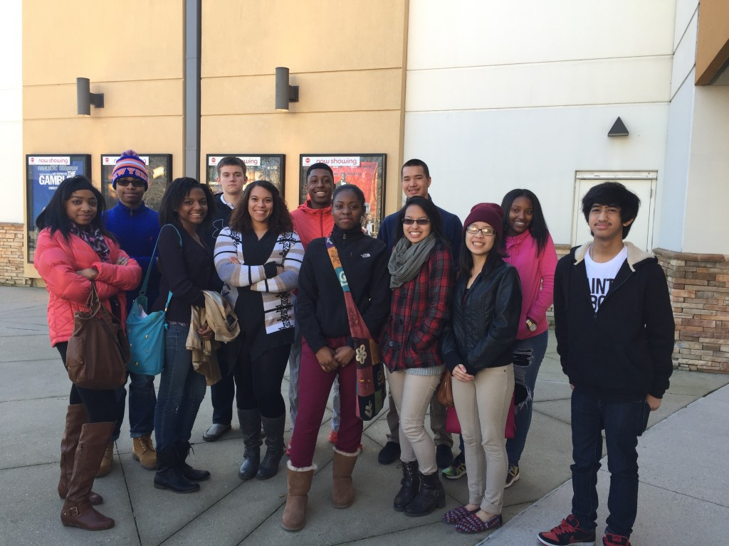 Landstown High School students Cyrus Jones, LeAnnda Hamilton, Jame Patterson, Tyler Jones, Kaliah Highsmith, Carmina Angeles, Michole Lim, Diamyn Jones, Rafael Chavez, Jeremy Barclay, and Tyriq Nady went to see the movie Selma in theaters.