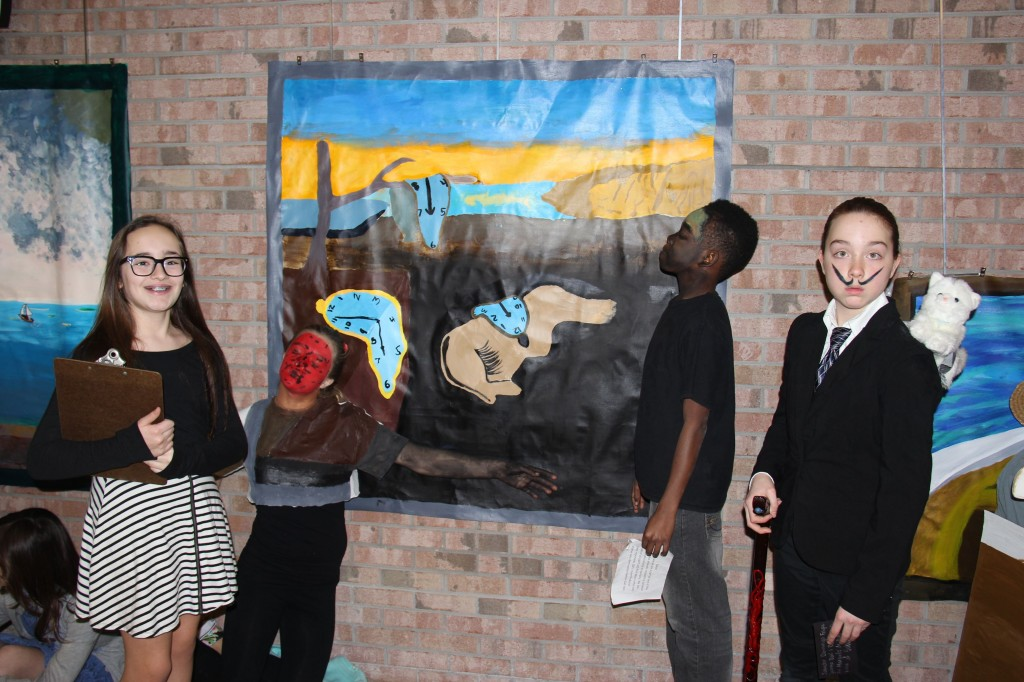 Gifted visual art students recreate Salvador Dali's The Persistence of Memory.