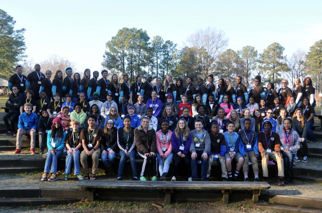 2015 IMS Leadership Workshop participants at Jamestown 4H Camp.