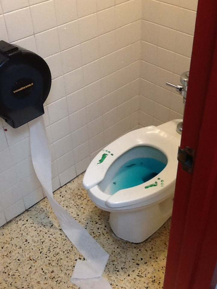Green Toilet Water