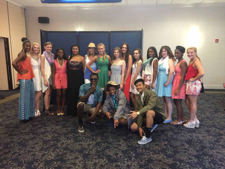 Advanced Fashion students prepare for their ZONTA debut.