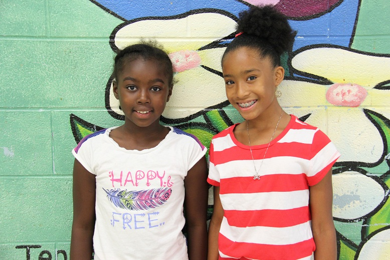 Taiyanna and Averyana serve as Summer Jam interns.
