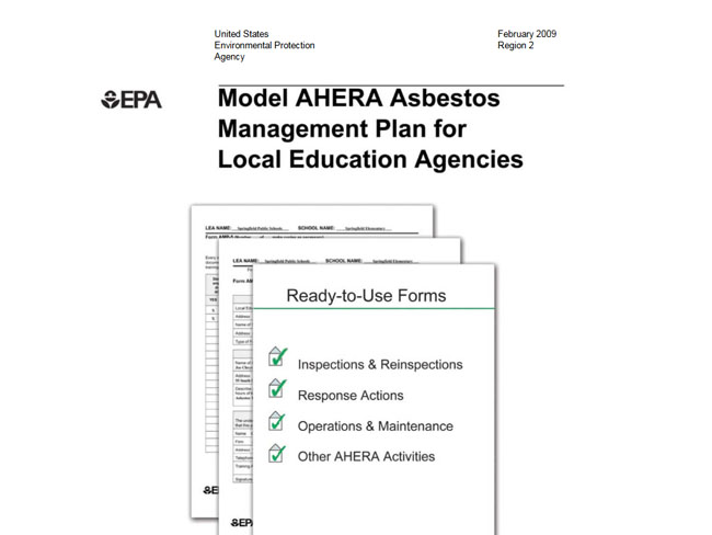 asbestos  ahera  management plans available