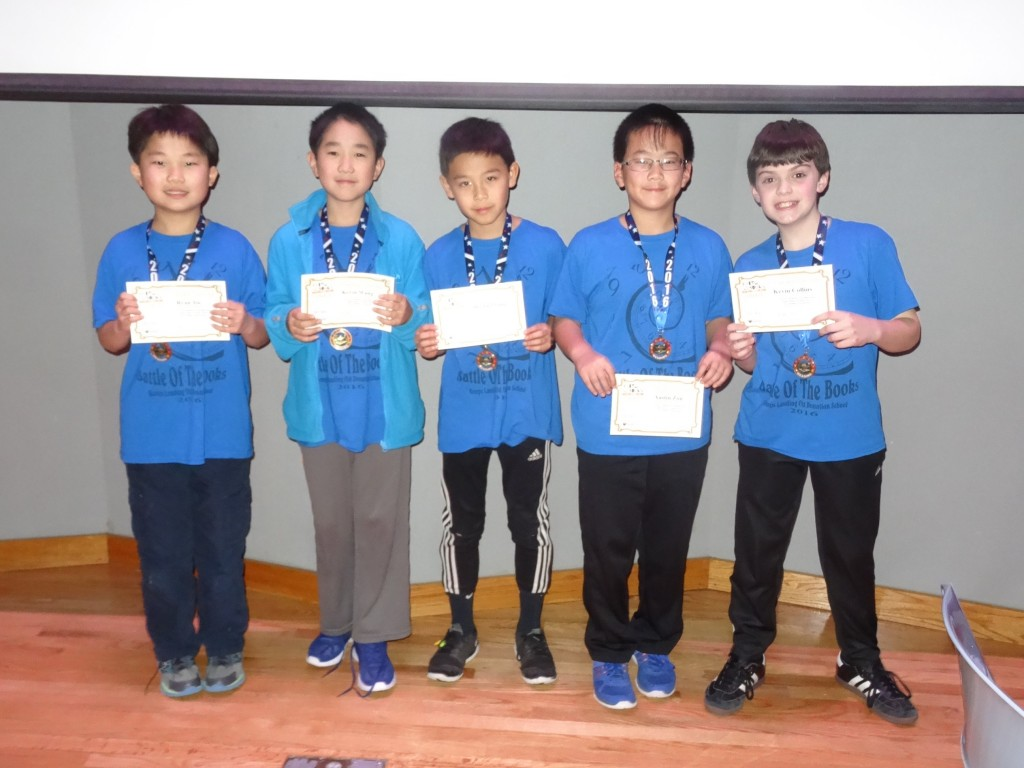 2016 Battle of the Books winners Time Turners