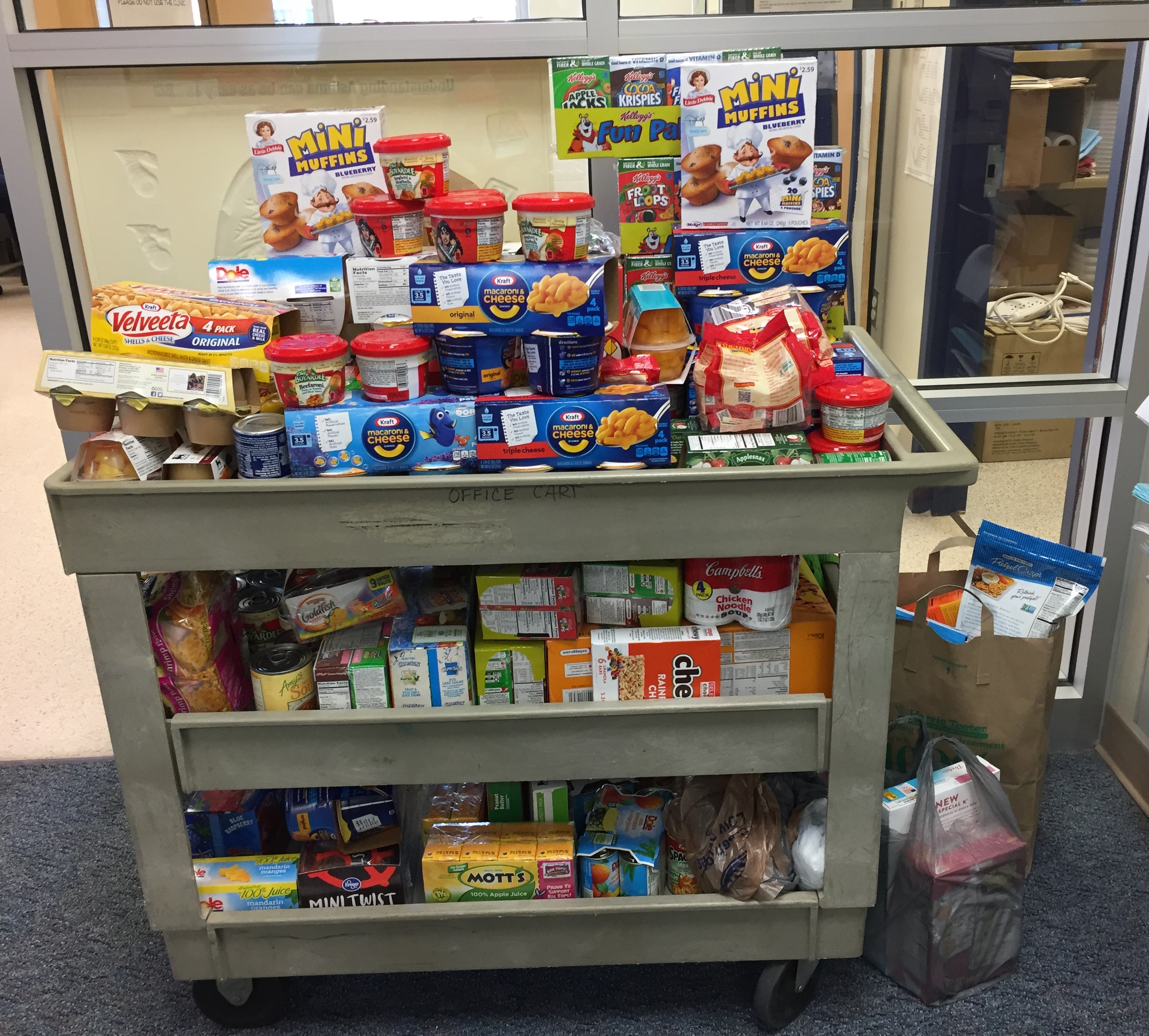 Pembroke Meadows Elementary staff collected donations for food drive