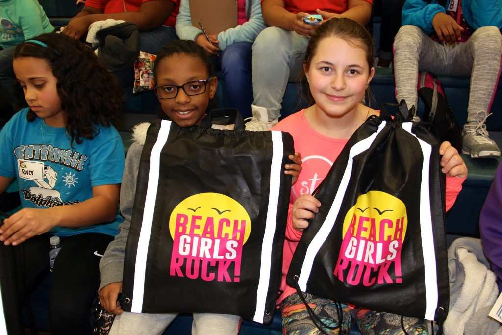 2 students at Beach Girls Rock event
