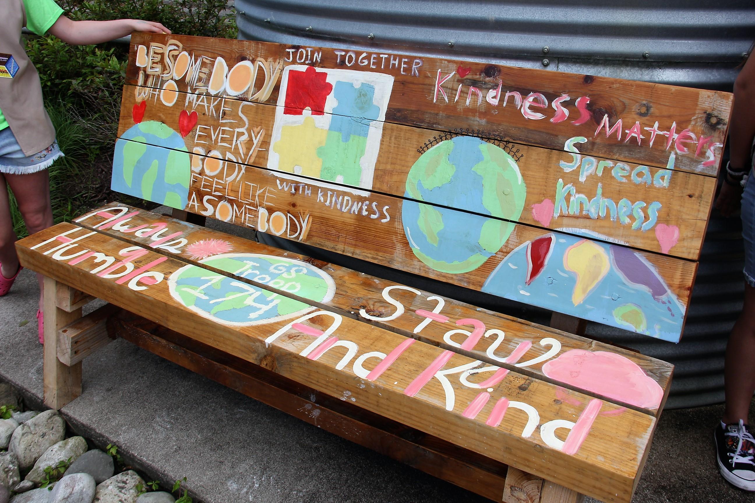 Girl Scout Troop 174 Establishes Kindness Rock Garden At Kellam