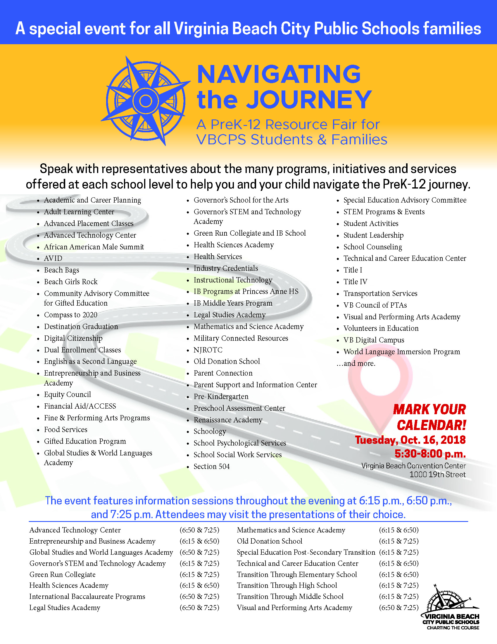 Navigating The Journey Event Showcases Prek Grade 12 Programs And