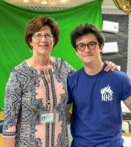 Keano W. Rich and Principal Dr. Clare Leblanc