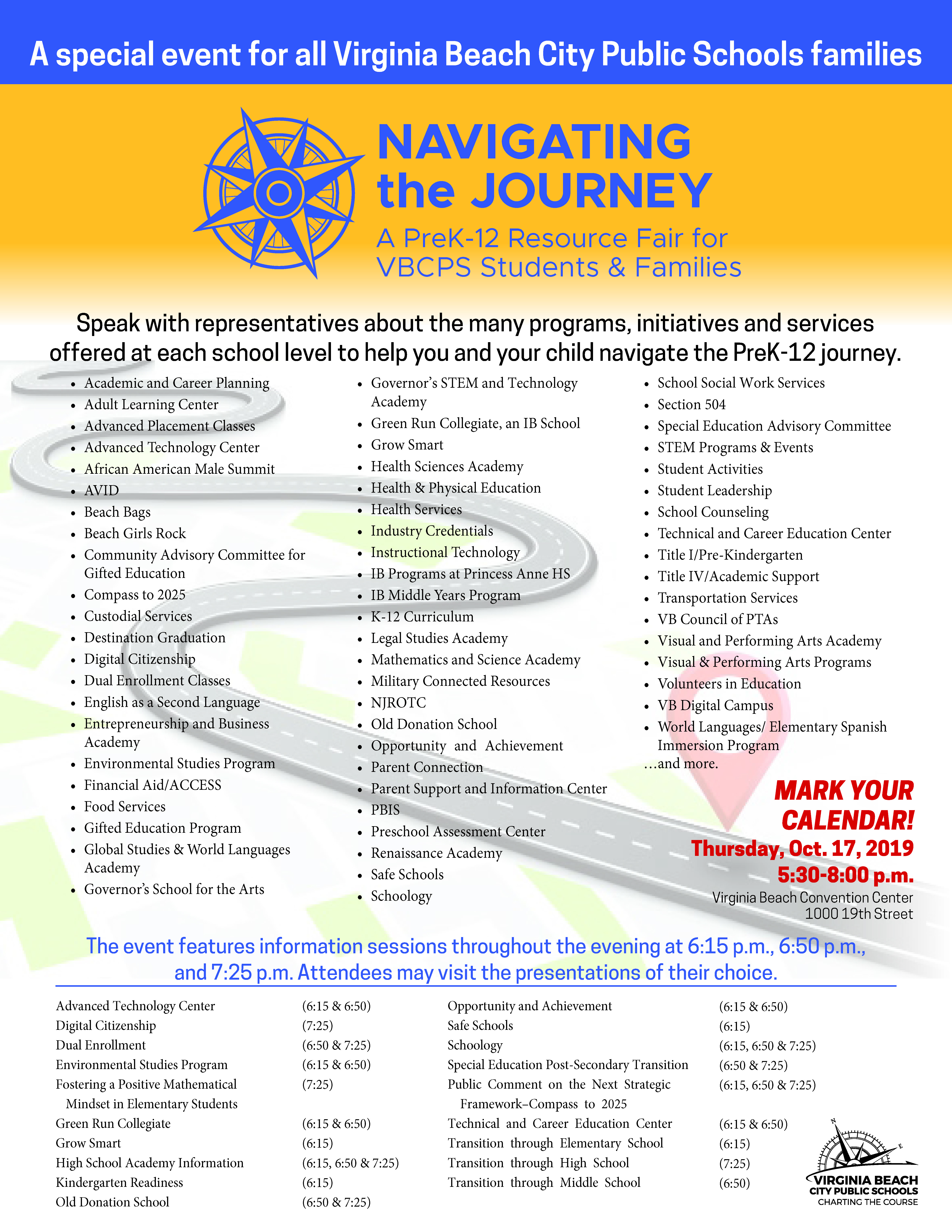 Navigating the Journey flyer