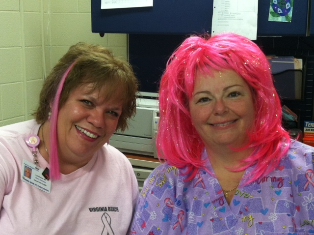 Lynnhaven Middle thinks pink