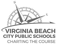 Logo for Virginia Beach City Public Schools, Charting the Course.
