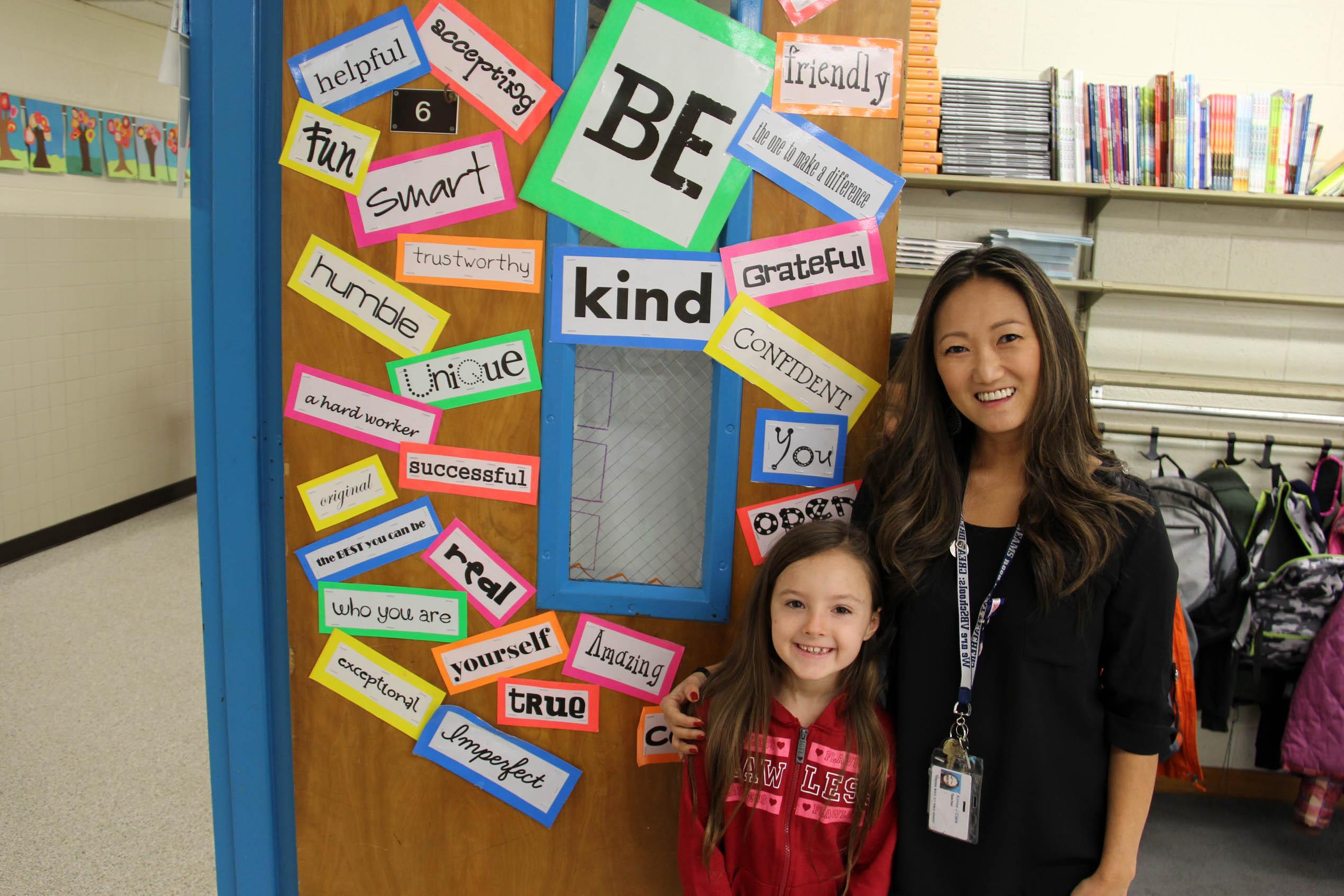 Clark and third-grader Airiana Logue