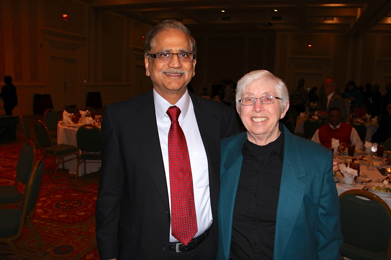 Cox (right) with VBCPS Chief Information Officer Ramesh Kapoor