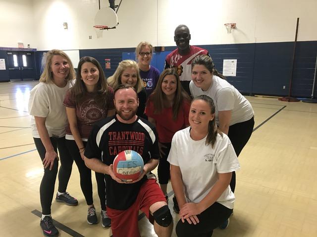 Trantwood teacher volleyball team