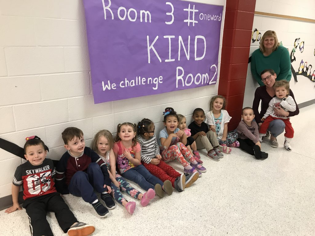 Arrowhead preschoolers from Mrs. Mariana Crocker's and Mrs. Ruth Levy's class chose KIND as their #oneword for this year