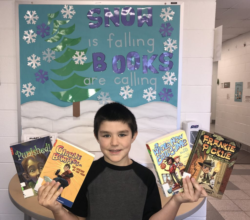 Jake Couillard, a third-grader at Corporate Landing Elementary School, plans to read every Virginia Readers' Choice book on this year's list.