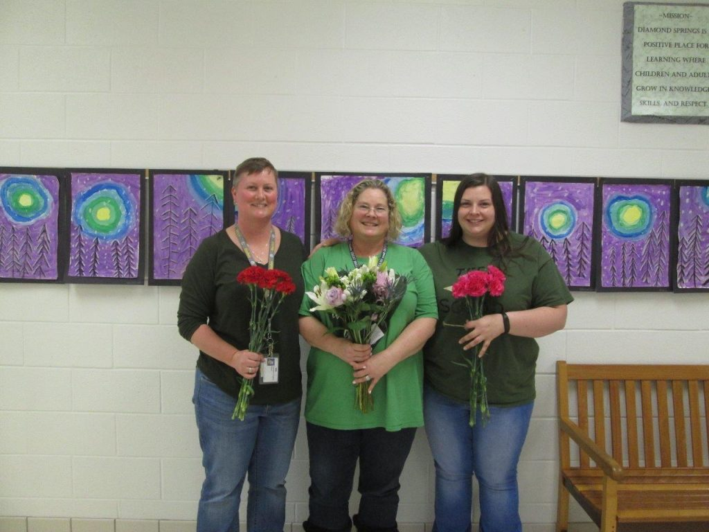 At Diamond Springs Elementary School, Stacy Lupia was named Teacher of the Year, and Jennifer Hughes and Becca Carter were named Distinguished Educators of the Year.