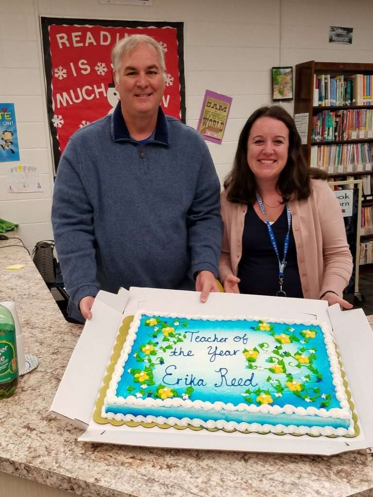 Erika Reed was named Fairfield Elementary School's Teacher of the Year.