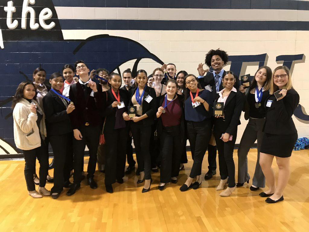 Green Run High School DECA members competed at the District Leadership Conference at Virginia Wesleyan