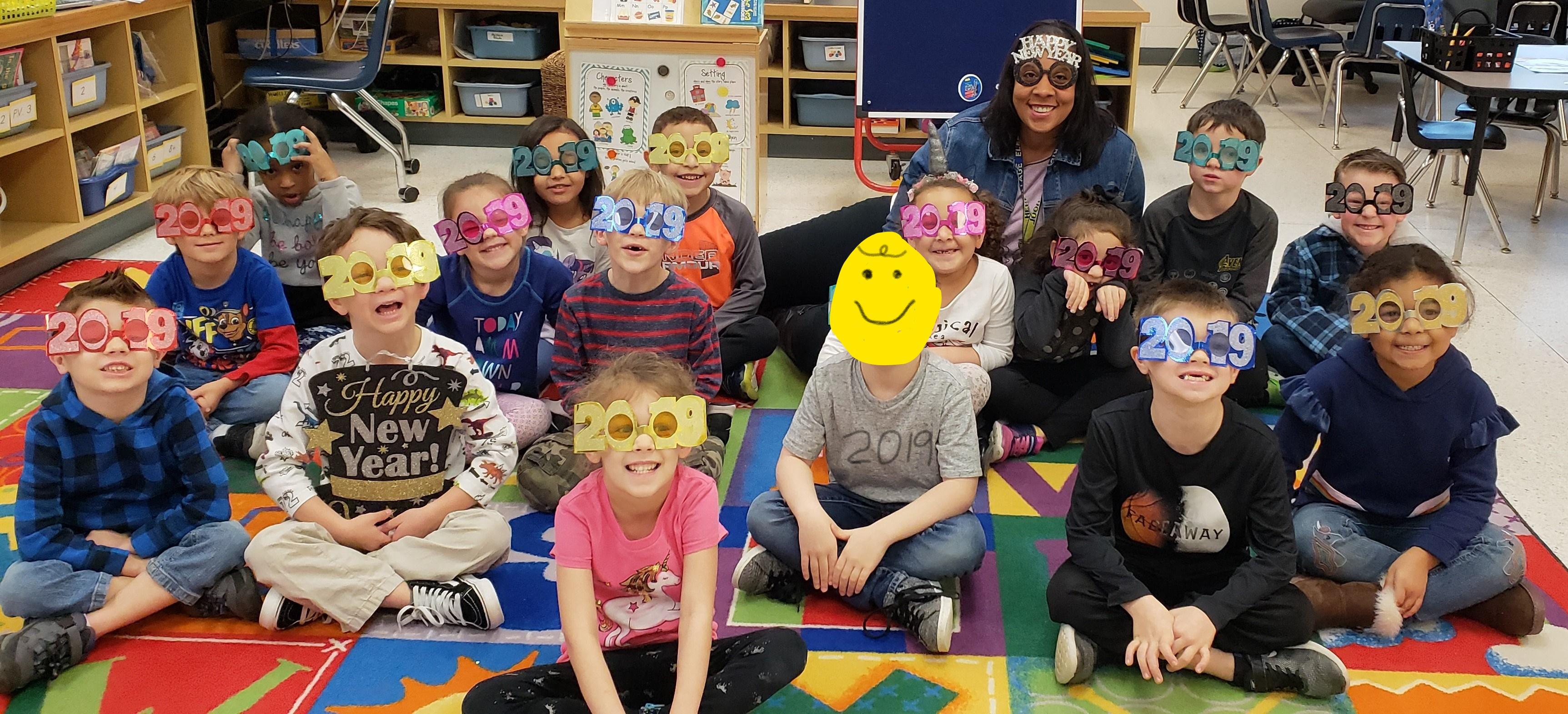 Hermitage Elementary School students rang in 2019!