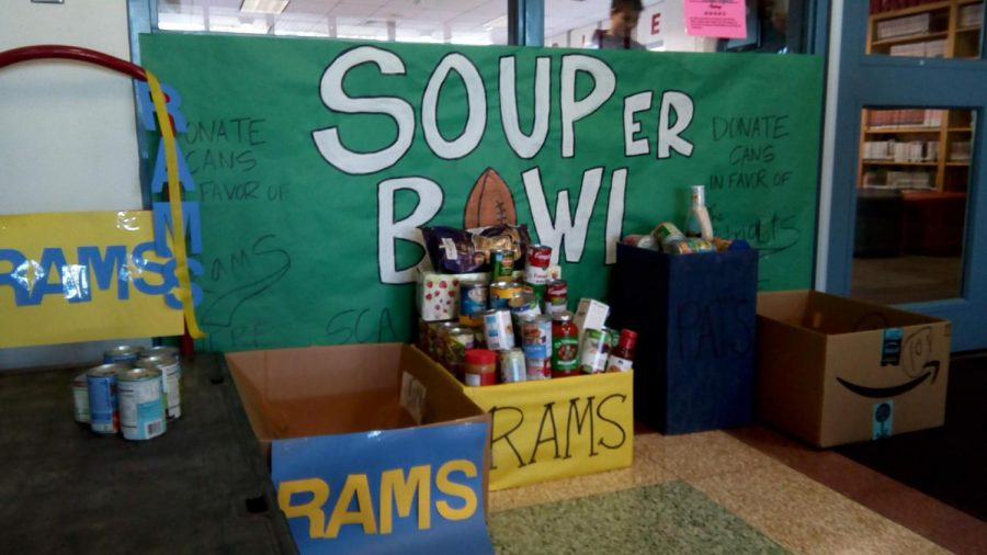 Kempsville High School's SCA held a food drive in honor of the big game.