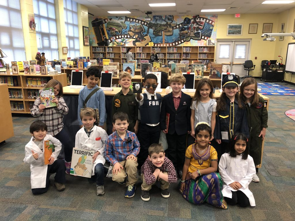 Kingston Elementary School students from Jenny Stepp's kindergarten class dressed up for career day.