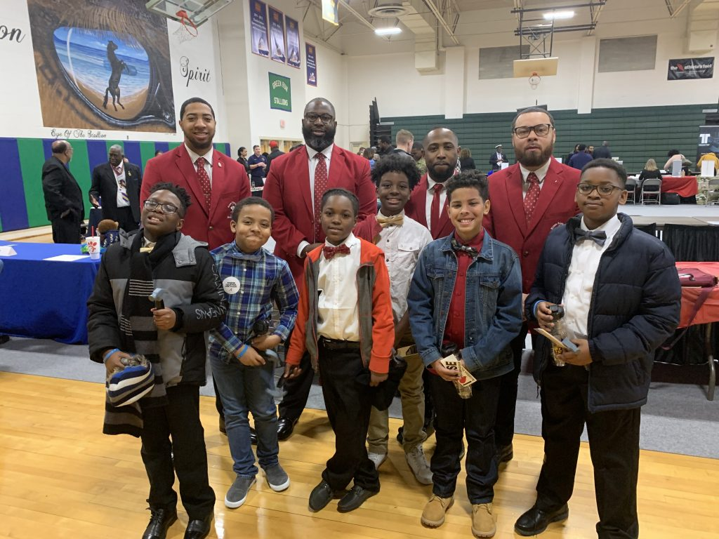 Fifth-graders Kamron Wright, Khi Shepard, Mekhi Ferguson, Chance Morrison, Jermire Granberry and Jahnye Dillion represented the Lynnhaven Lions at the 12th annual African-American Male Summit .