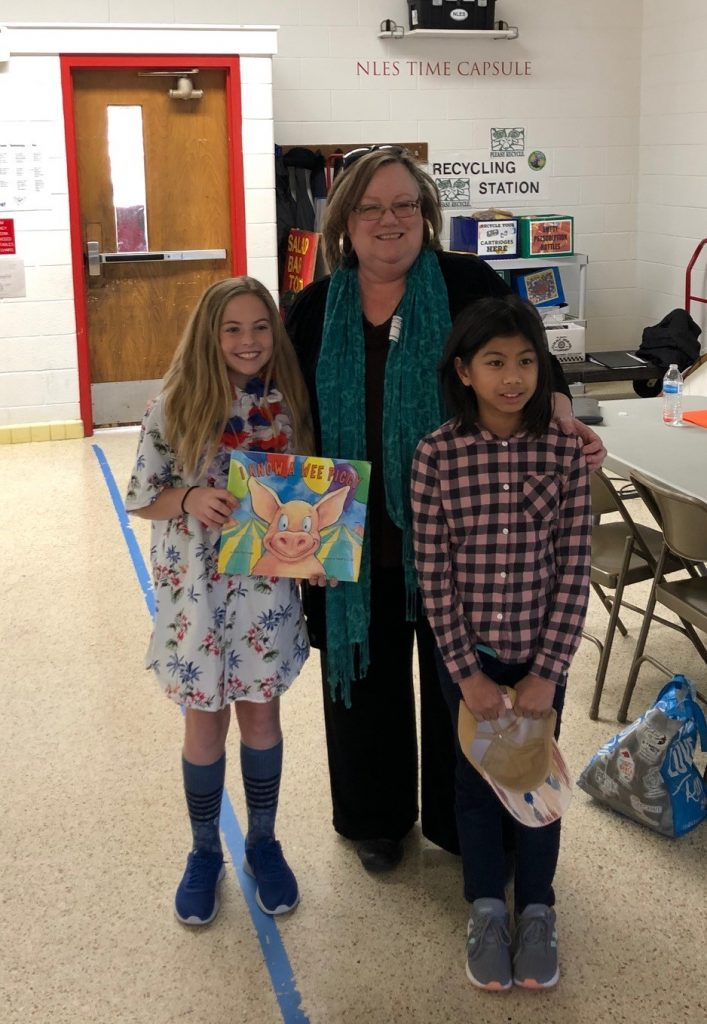 Children's book author Kim Norman visited North Landing Elementary School as part of their Reading Month activities.