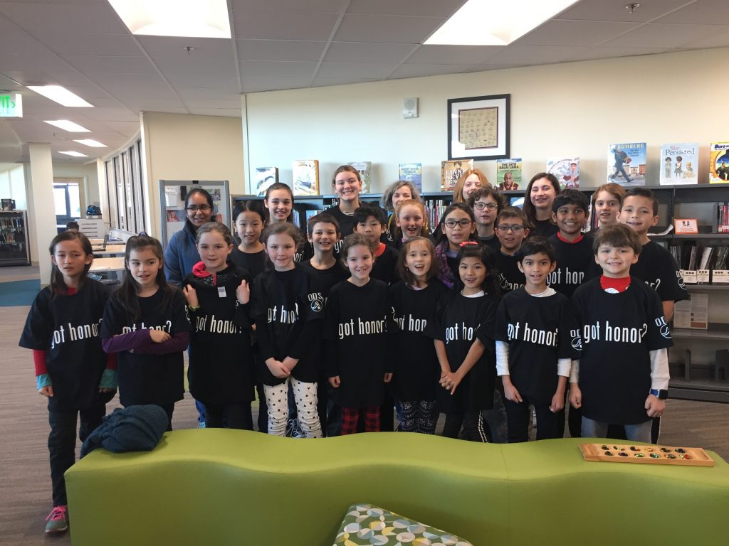 """Old Donation School students celebrated this month's """"Got Honor"""" campaign trait, which was """"fairness."""""""