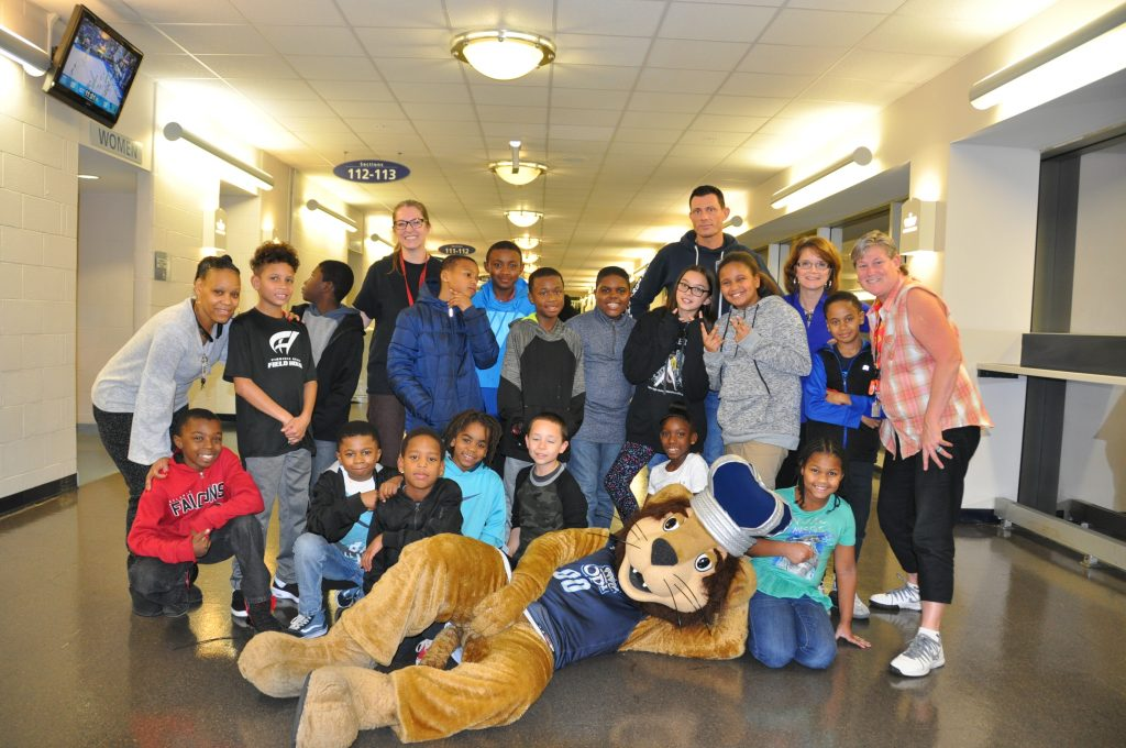 Parkway Elementary School students enjoyed free tickets from ODU to see the men's basketball team take on Marshall University.