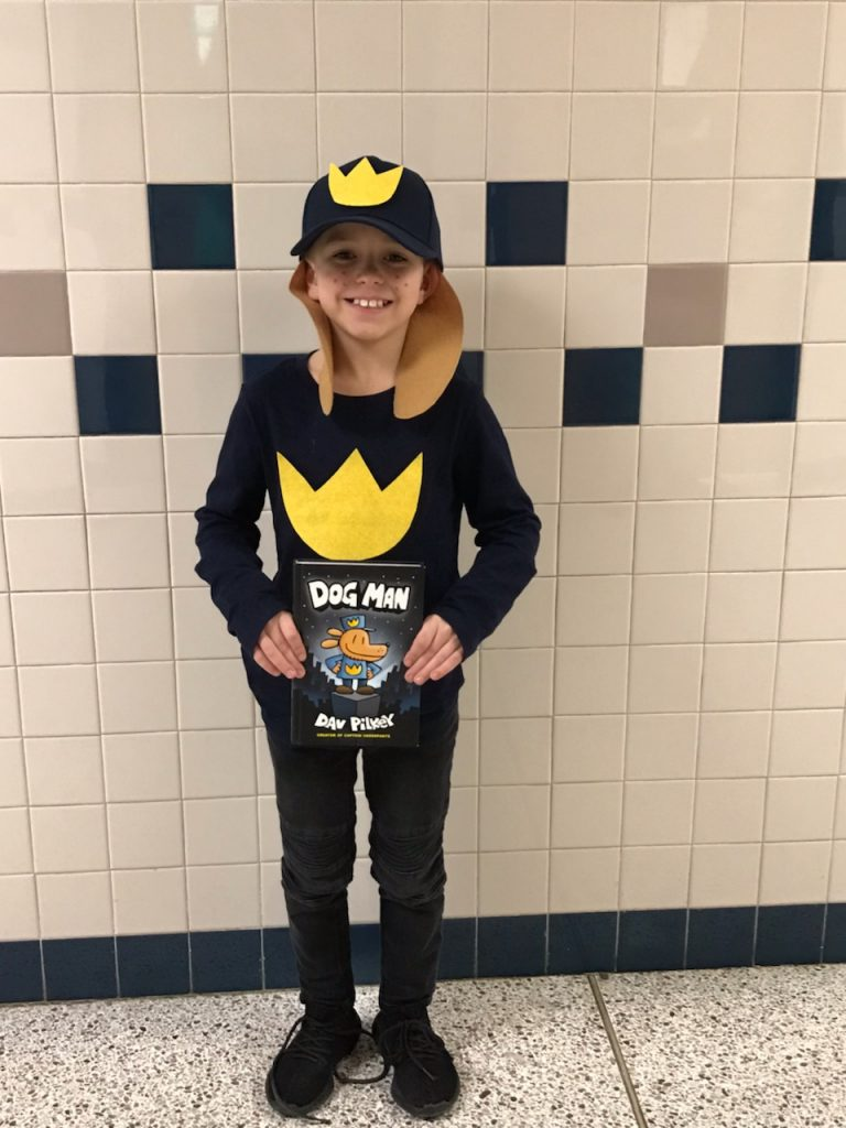 Pembroke Meadows Elementary School third-grader Carlton Falke dressed up for book character day.