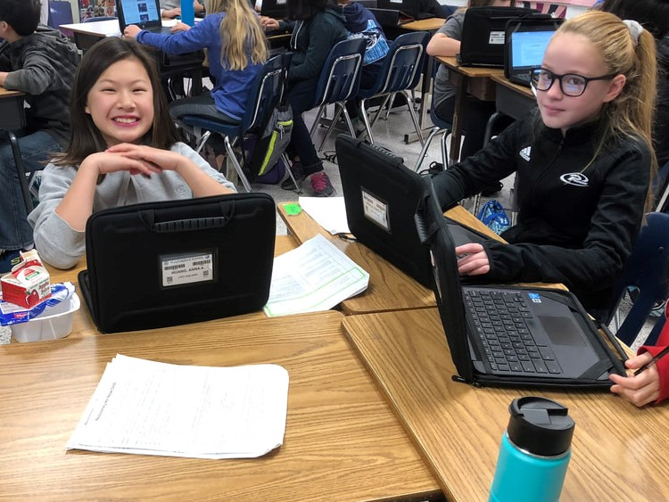 Sixth-graders at Plaza Middle School participated in Genius Hour by creating questions that could not be easily Googled.