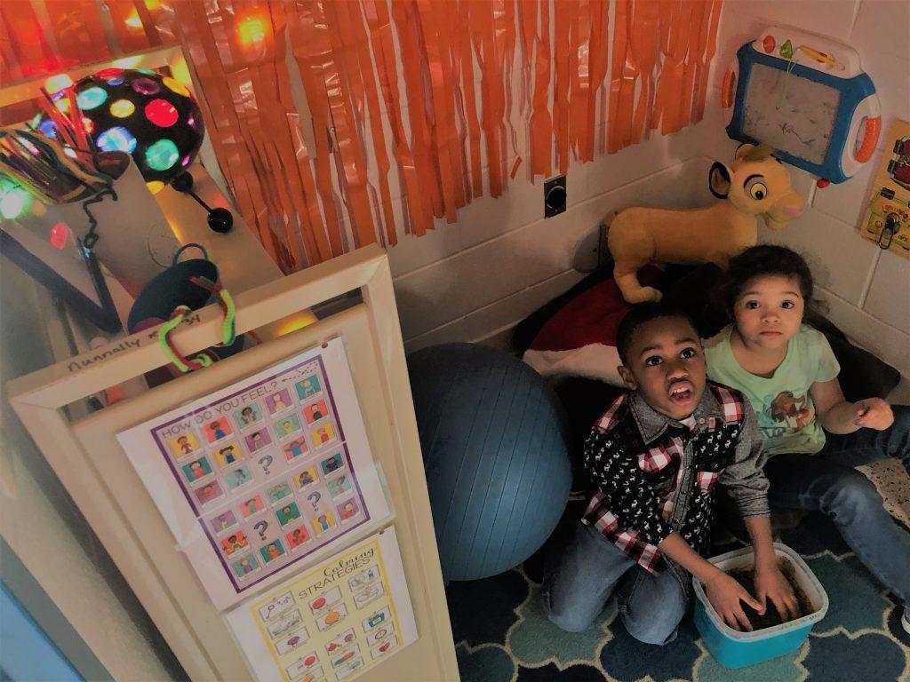 Students at Thalia Elementary School enjoyed special education teacher Christy Nunnally's sensory room called Chillville.