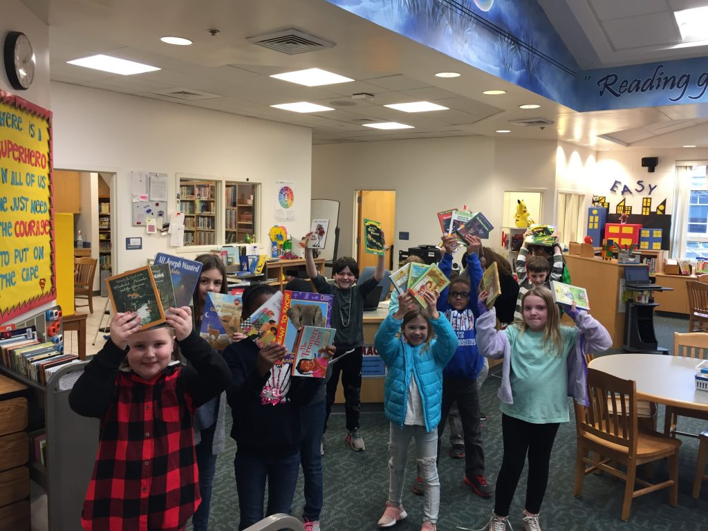 Windsor Woods Elementary School students celebrated Literacy Month with a book swap.