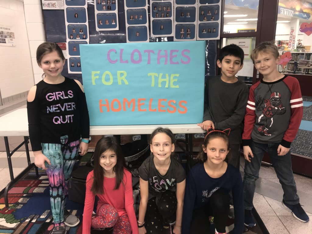Corporate Landing Elementary School third-graders celebrated Kindness Month by collecting clothes for the homeless.